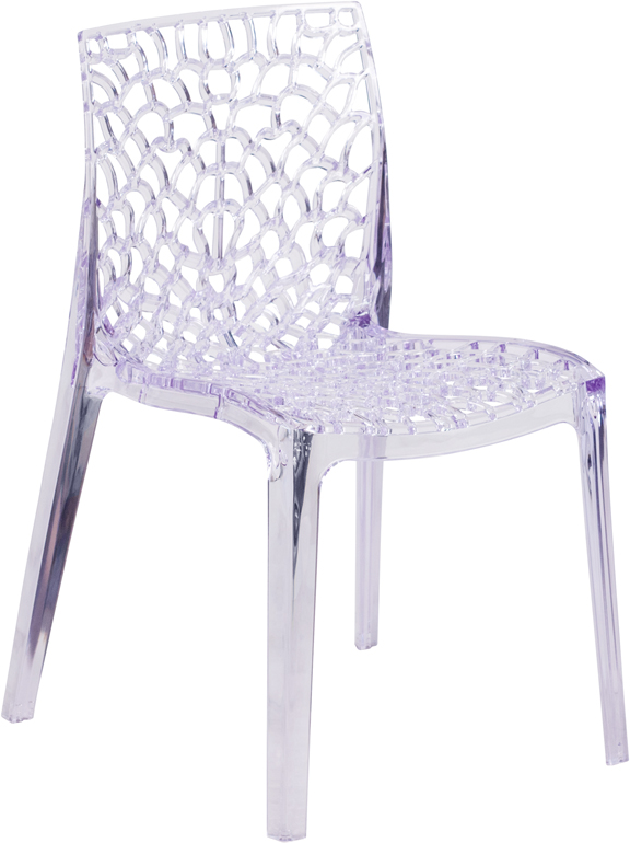 Wholesale Vision Series Transparent Stacking Side Chair