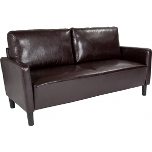 Wholesale Washington Park Upholstered Sofa in Brown Leather