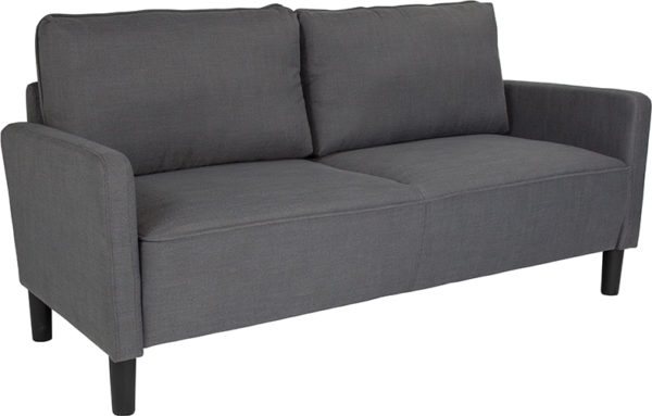 Wholesale Washington Park Upholstered Sofa in Dark Gray Fabric