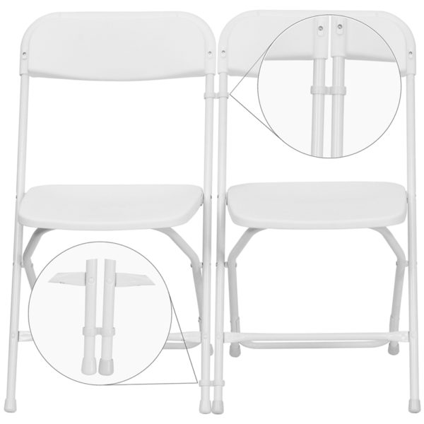 Lowest Price White Plastic Ganging Clips - Set of 2