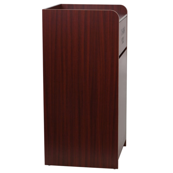 Lowest Price Wood Tray Top Receptacle in Mahogany