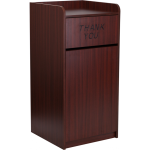Wholesale Wood Tray Top Receptacle in Mahogany