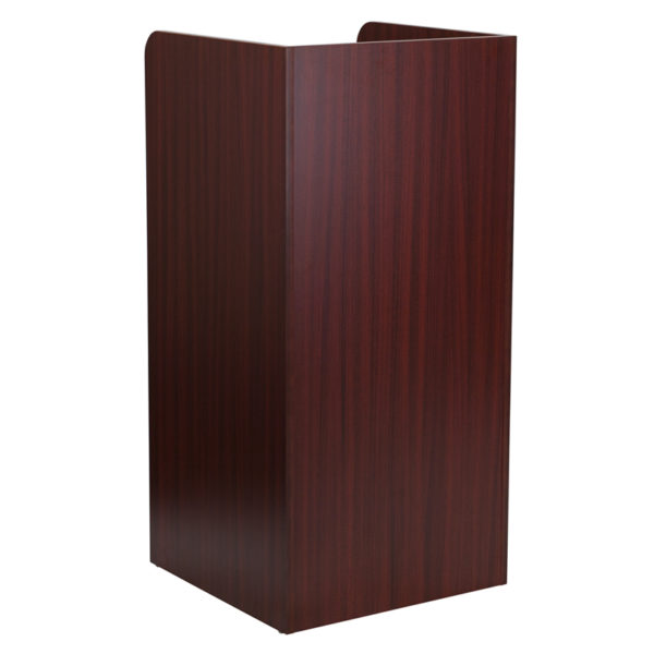 Commercial Grade Trash Receptacle Mahogany Tray Top Receptacle