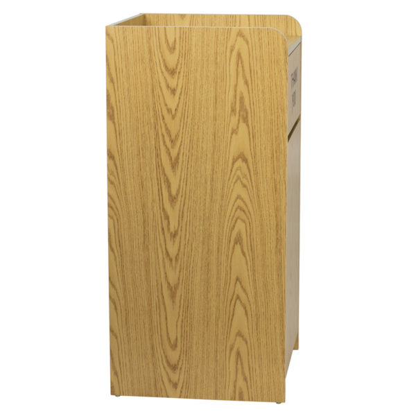 Lowest Price Wood Tray Top Receptacle in Oak