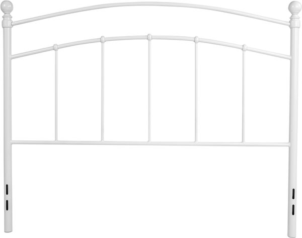 Lowest Price Woodstock Decorative White Metal Full Size Headboard