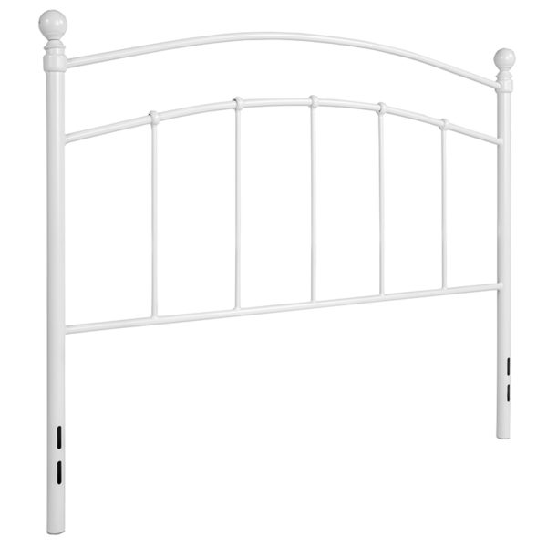 Contemporary Style White Metal Full Headboard