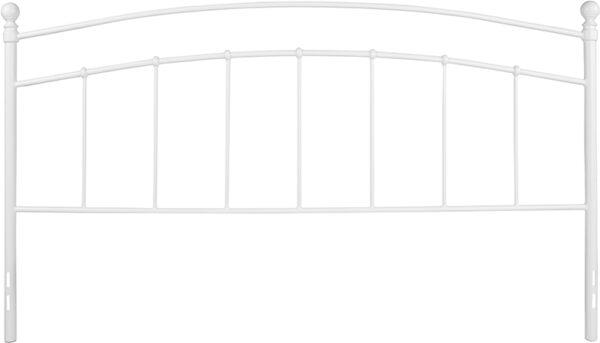 Lowest Price Woodstock Decorative White Metal King Size Headboard