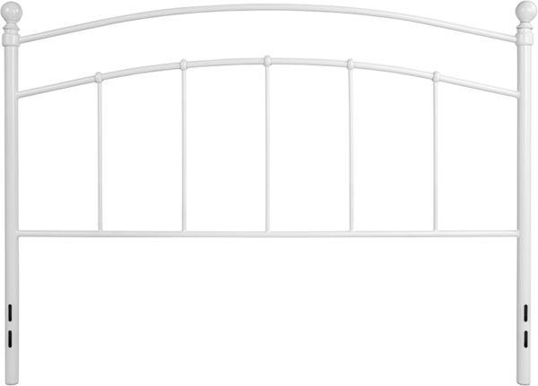 Lowest Price Woodstock Decorative White Metal Queen Size Headboard