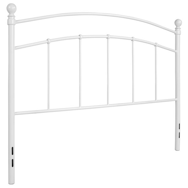 Contemporary Style White Metal Queen Headboard