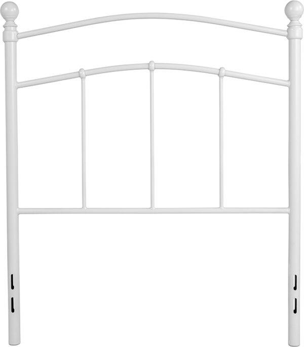 Lowest Price Woodstock Decorative White Metal Twin Size Headboard