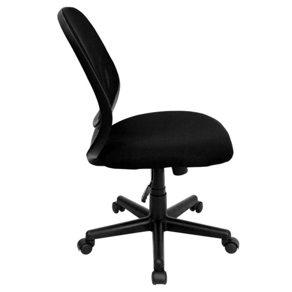 Lowest Price Y-GO Office Chair™ Mid-Back Black Mesh Swivel Task Office Chair