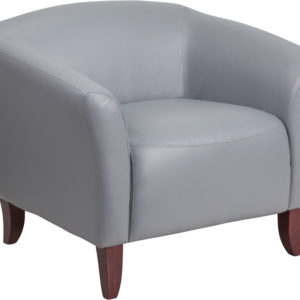 Wholesale HERCULES Imperial Series Gray LeatherSoft Chair